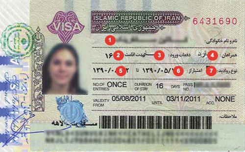Iran Visa Sample